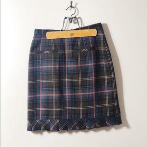 CAbi #742 Heritage Plaid Pencil Skirt